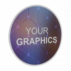 Insegna Circolare trasparente retrostampata Personalizzabile