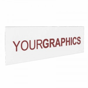 Insegna in Plexiglass Bianco Stampata con e senza Lettere a Rilievo Rettangolare o Quadrata