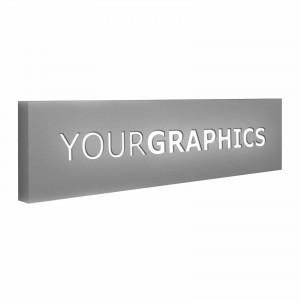 Insegna monofacciale rettangolare o quadrata scatolata traforata Personalizzata
