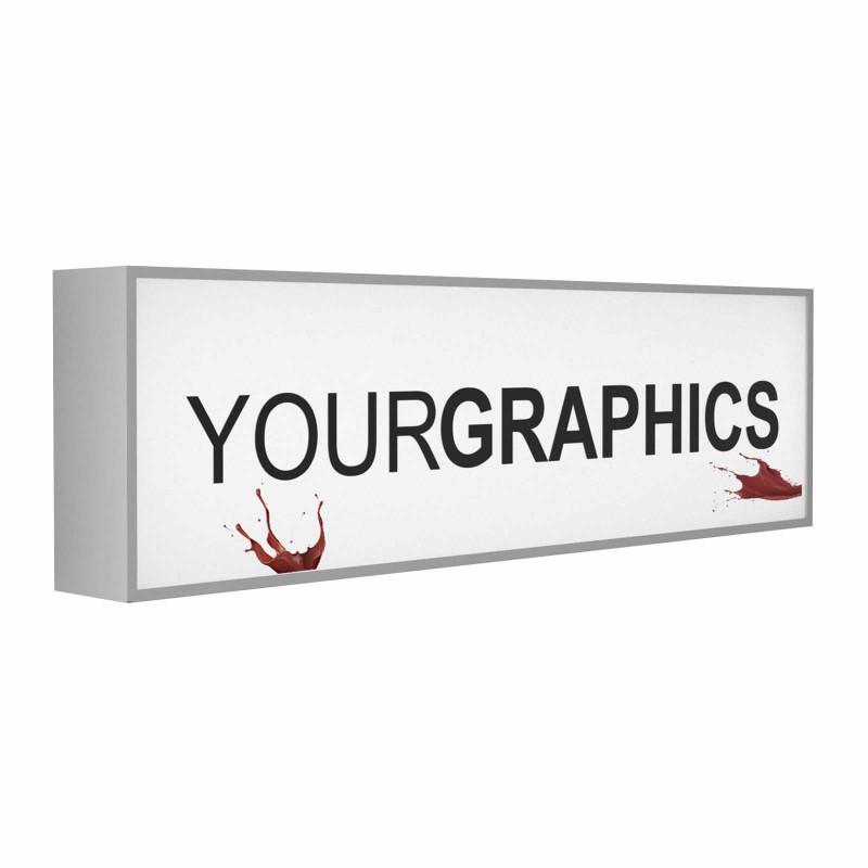 Insegna monofacciale rettangolare o quadrata pannello Opal stampato Personalizzato