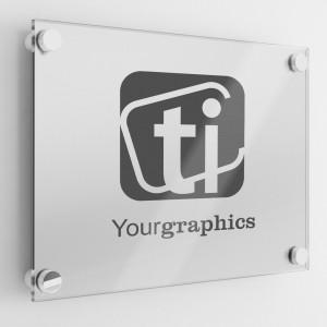 Targa in Plexiglass colore Silver Rettangolare o Quadrata