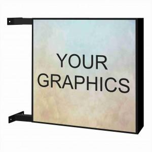 Insegna Luminosa bifacciale rettangolare o quadrata Personalizzata pannello Opal + Stampa