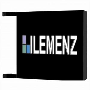 Insegna luminosa bifacciale rettangolare o quadrata traforata Personalizzata