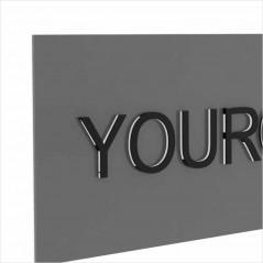 Insegna in Alluminio Stampato Rettangolare o Quadrata Personalizzata