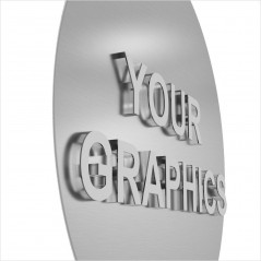 Insegna Ellisse in Alluminio stampato Personalizzata