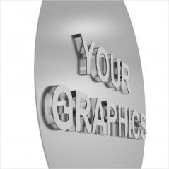 Insegna Circolare in Alluminio stampato Personalizzata
