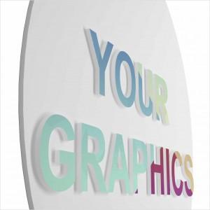 Insegna Circolare PVC + Rilievo 10mm Personalizzata