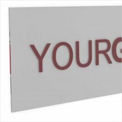 Insegna Rettangolare o Quadrata trasparente Retrostampata Personalizzabile
