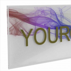 Insegna in Plexiglass Trasparente Stampata con e senza Lettere a Rilievo Rettangolare o Quadrata