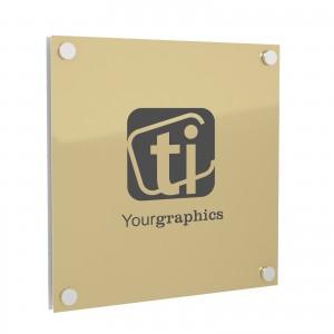 Targa in Alluminio GOLD tipologia Rettangolare o Quadrata