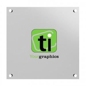 Targa Alluminio Rettangolare o Quadrata Silver Personalizzata spessore 2 mm.