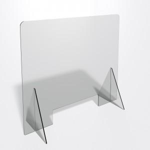 Parafiato o pannello separatore in plexiglass trasparente 5 mm - dimensioni: 80xh70 cm