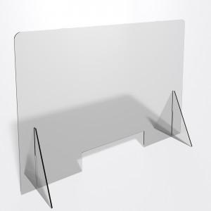 Parafiato o pannello separatore in plexiglass trasparente 5 mm - dimensioni: 100xh70 cm