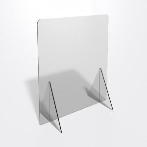 Parafiato o pannello separatore in plexiglass trasparente 5 mm - dimensioni: 60xh70 cm