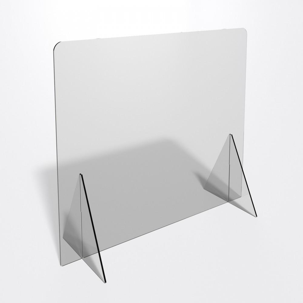 Parafiato o pannello separatore in plexiglass trasparente 8 mm - dimensioni: 100xh70 cm