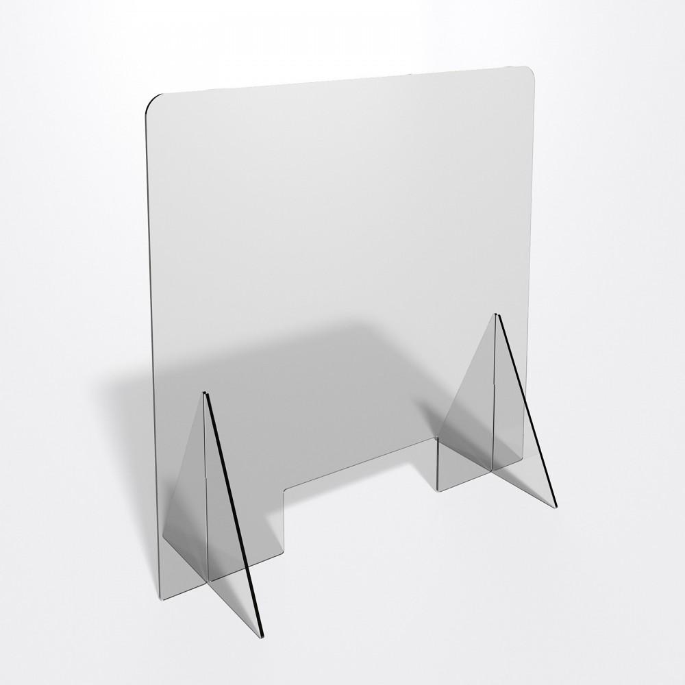 Parafiato o pannello separatore in plexiglass trasparente 5 mm - dimensioni: 70xh70 cm