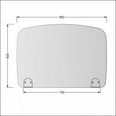 Parafiato o pannello separatore in plexiglass trasparente - 80xh60 cm
