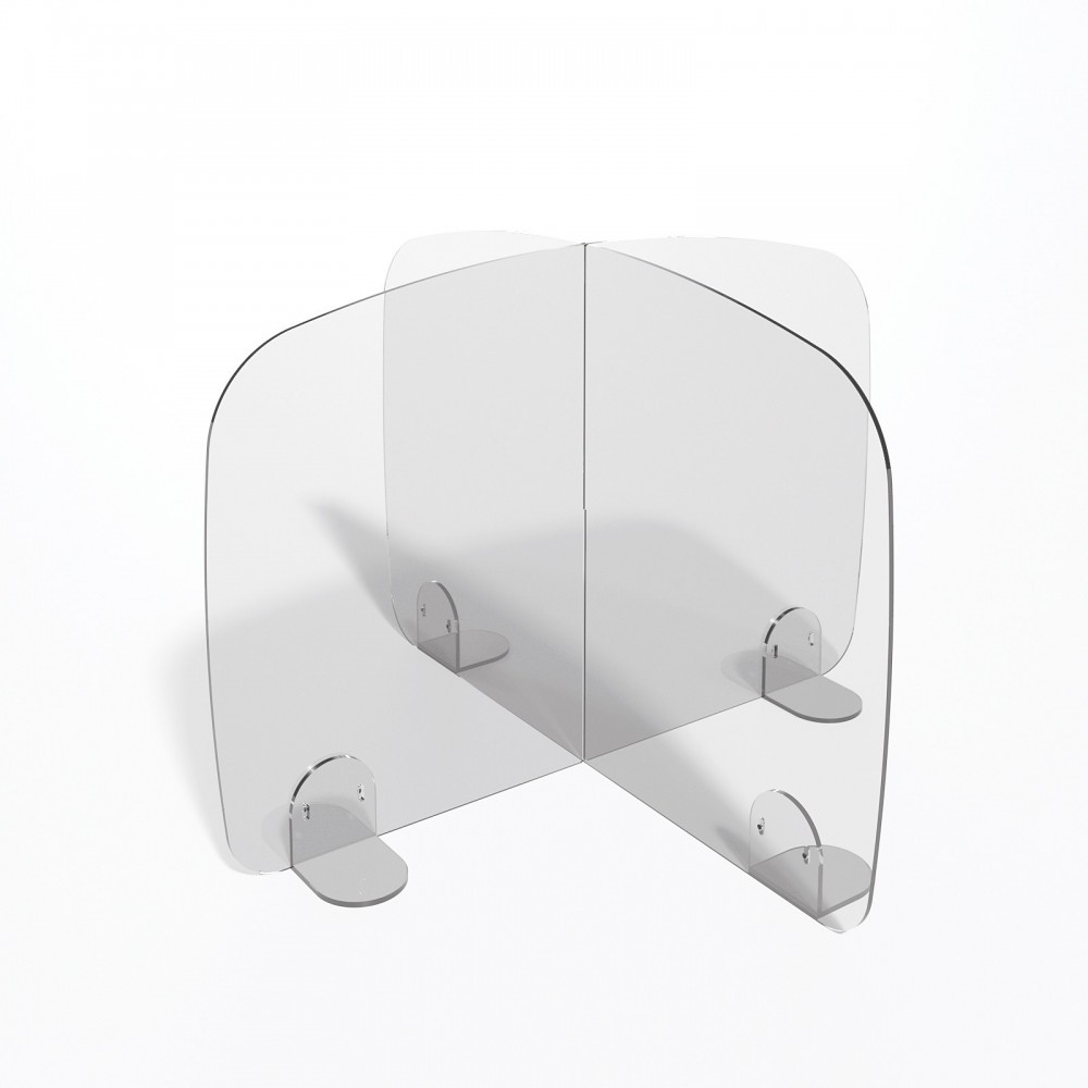 Parafiato o pannello separatore in plexiglass trasparente - 70xh60 cm