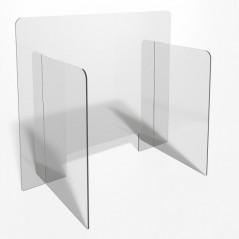 Parafiato o pannello separatore in plexiglass trasparente - 80xh70 cm
