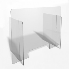 Parafiato o pannello separatore in plexiglass trasparente - 90xh70 cm