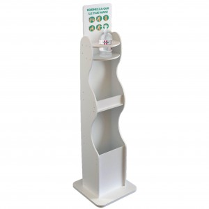 Dispenser / Distributore / Colonnina per igienizzante/gel disinfettante 3 in 1 da terra
