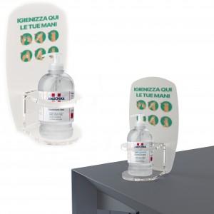 Dispenser / Distributore / Colonnina per igienizzante/gel disinfettante da banco o da parete