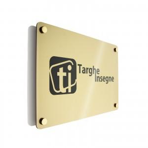 Targa in Plexiglass colore Gold Rettangolare o Quadrata