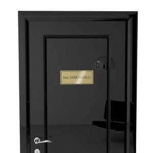 Targhetta in ABS per porta Gold-X con testo Inciso tipologia Rettangolare