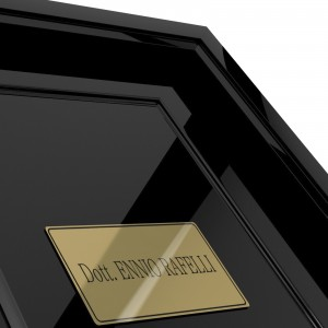 Targhetta in ABS per porta Gold-L con testo Inciso tipologia Rettangolare