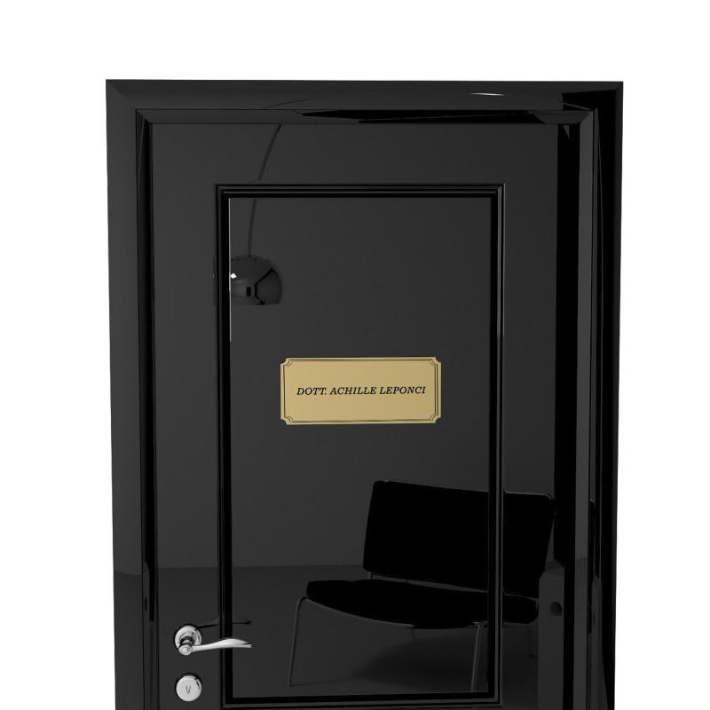 Targhetta in ABS per porta Gold con testo Inciso tipologia Sagomata 3