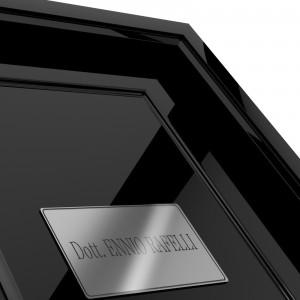 Targhetta in ABS per porta Silver - L tipologia Rettangolare