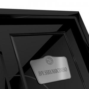 Targhetta in ABS per porta Silver tipologia Sagomata 1