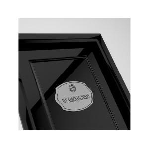 Targhetta in ABS per porta Silver tipologia Sagomata 2
