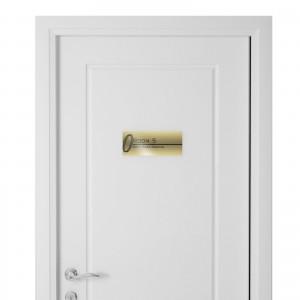 Targhetta in Alluminio per porta GOLD Stampata tipologia Rettangolare