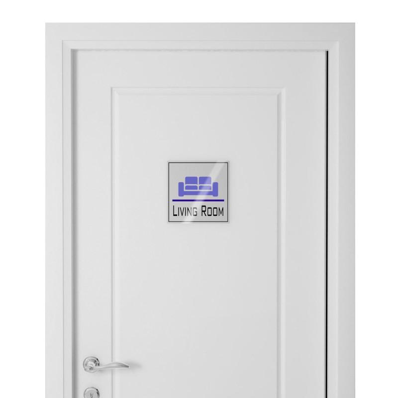 Targhetta in Alluminio per porta SILVER Stampata tipologia Quadrata