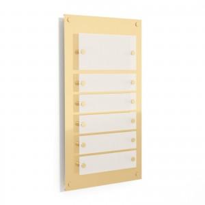 Targa in Plexiglass Stampata colore Gold tipologia 1 + 5 Moduli Small