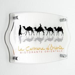 Targa Doppia Lastra in Plexiglass Bianca e Trasparente Stampata Impero