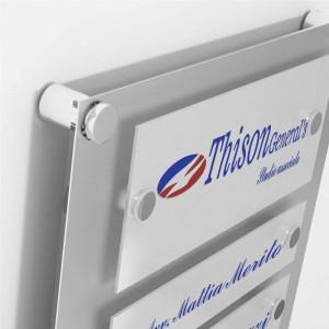 Targa in Plexiglass Stampata colore Silver tipologia 2 Moduli Small