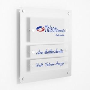 Targa in Plexiglass Stampata colore Silver tipologia 1 + 2 Moduli Small