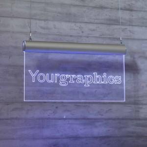 Targa in Plexiglass a LED per Soffitto tipologia Rettangolare 1:3