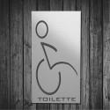 Targhetta in ABS da Toilette colore Silver design Moderno Rettangolare