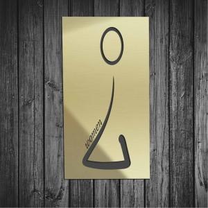 Targhetta in Alluminio da Toilette colore Gold design Moderno tipologia Rettangolare