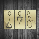 Targhetta in ABS da Toilette colore Gold design Moderno Rettangolare