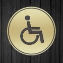Targhetta in ABS da Toilette colore Gold design Classico Circolare