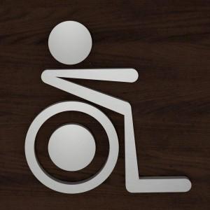 Targhetta in Alluminio da Toilette colore Silver design Moderno Sagomata