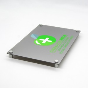 Targa in Plexiglass Silver Stampata Rettangolare o Quadrata