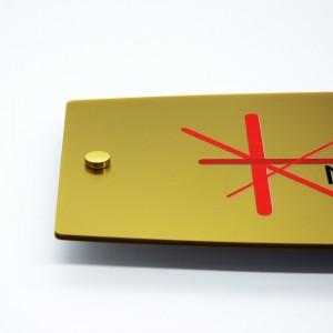 Targa in Plexiglass Gold Stampata Ellisse Moderna