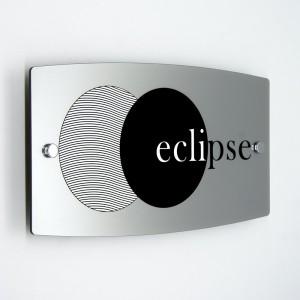Targa in Plexiglass Silver Stampata Ellisse Moderna