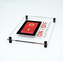 Targa in Plexiglass Trasparente Stampata Rettangolare o Quadrata