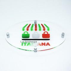 Targa in Plexiglass Trasparente Stampata Ellisse